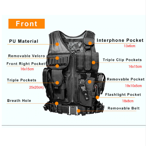 Front of the Tactical Vest