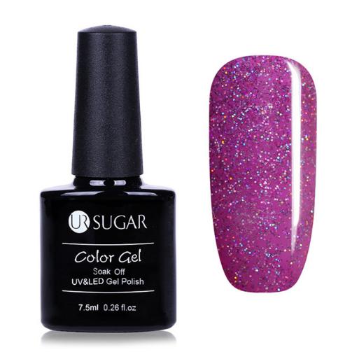 UR SUGAR Rainbow Holographic Gel Nail Polish 7.5ml Shimmer Neon Glitter